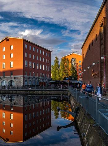 Kuva Tampereen Tammerkoskesta