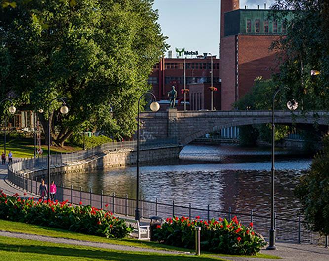 Kuva Tampereen Koskipuistosta